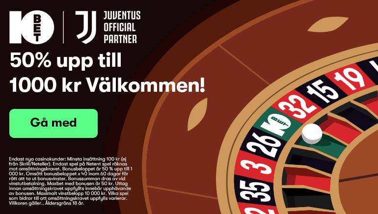 Njut av 10bet casino välkomstbonus till alla helt nya spelare på online casinot