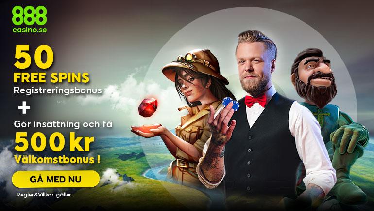 Spela på härliga och spännande casinospel på online casinot 888 med deras nya svenska välkomstkampanj!