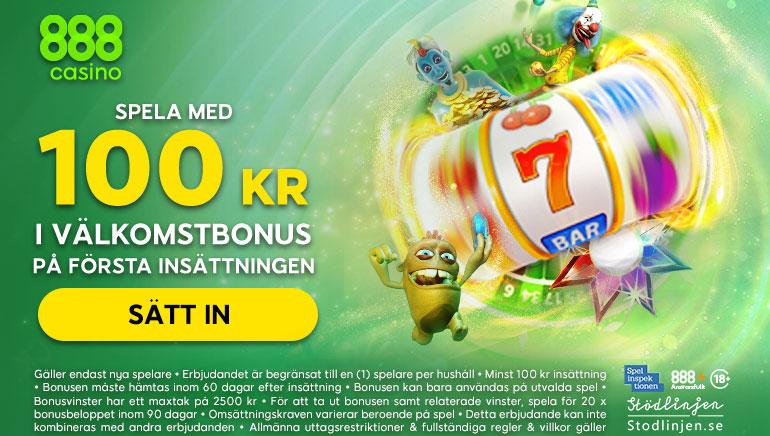 888 casino i Sverige ändrar välkomstbonusen med nya begränsningar