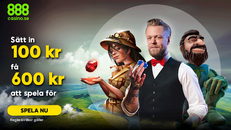888 Casino välkomnar nya svenska spelare med 500 SEK bonus