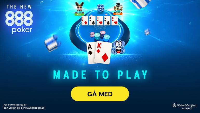 888poker lanserar en fräsch plattform av helt ny teknik