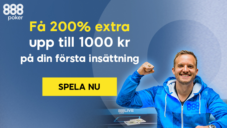 888 Sverige välkomstbonus: Ta del av 200% upp till 1,000 SEK
