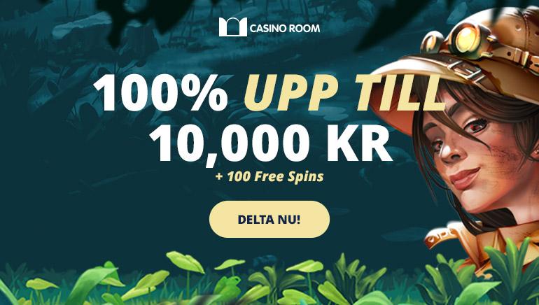 10,000 kronor i välkomstbonus hos Casino Room