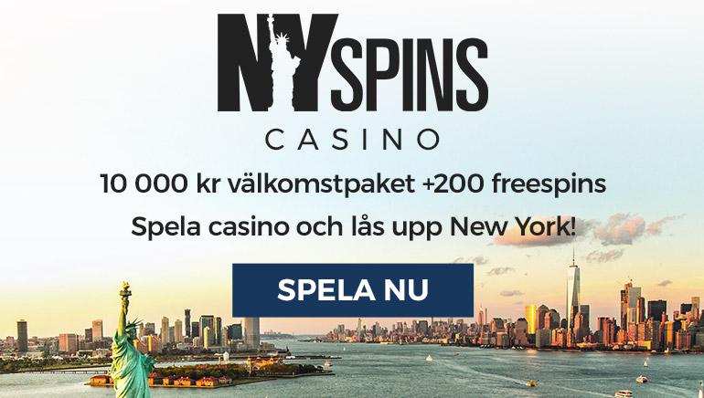 Allting är bättre med NY Spins Casino välkomstpaket
