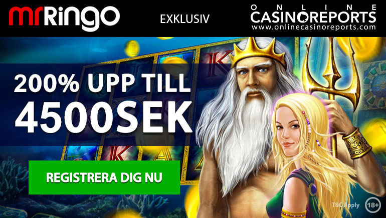 Utnyttja en exklusiv utökad 200% välkomstbonus hos Mr Ringo Casino