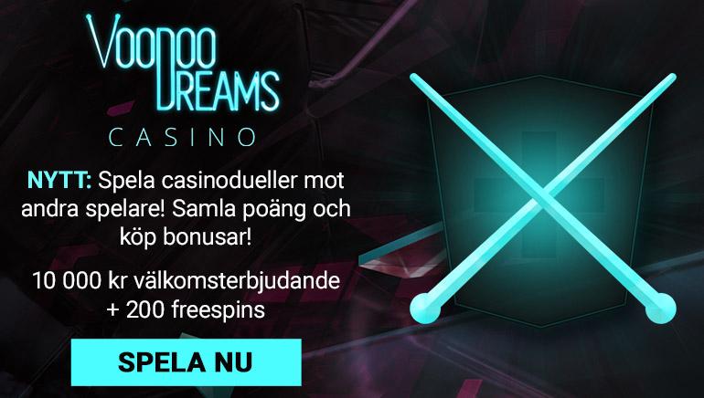 Hävda bonuspengar och free spins på Voodoo Dreams Casino