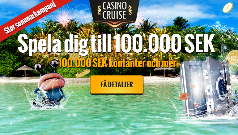 Casino Cruise erbjuder 10 000€ gratis i juni
