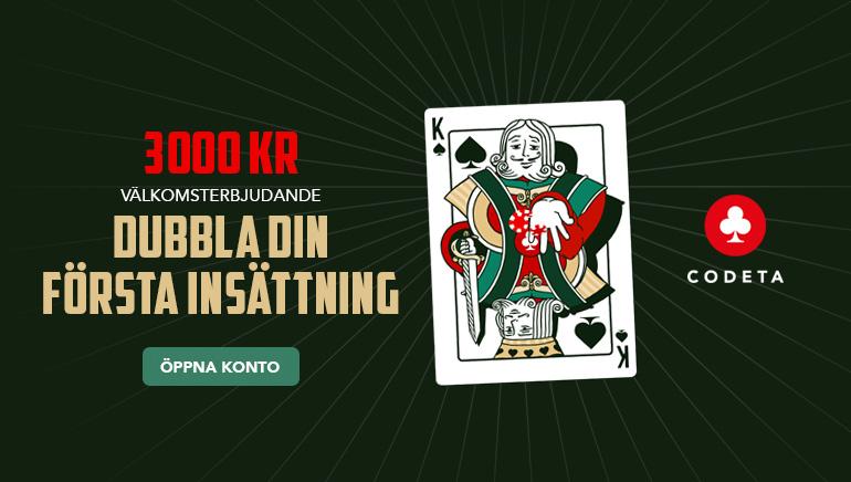 Fördubbla Din Första Insättning på Codeta Casino