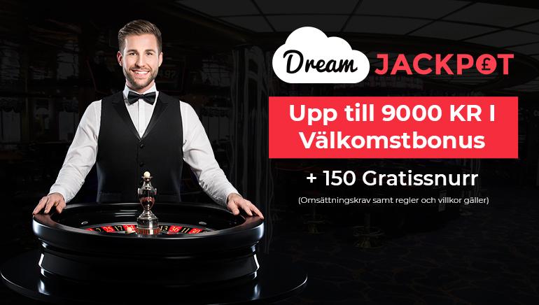 Drömmarna blir till verklighet med 9000 kr hos Dream Jackpot Casino