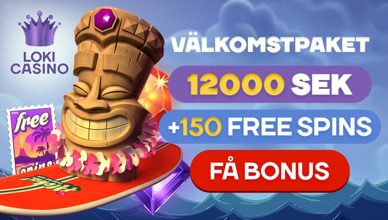 Få dina 150 free spins och en rejäl välkomstbonus hos Loki Casino