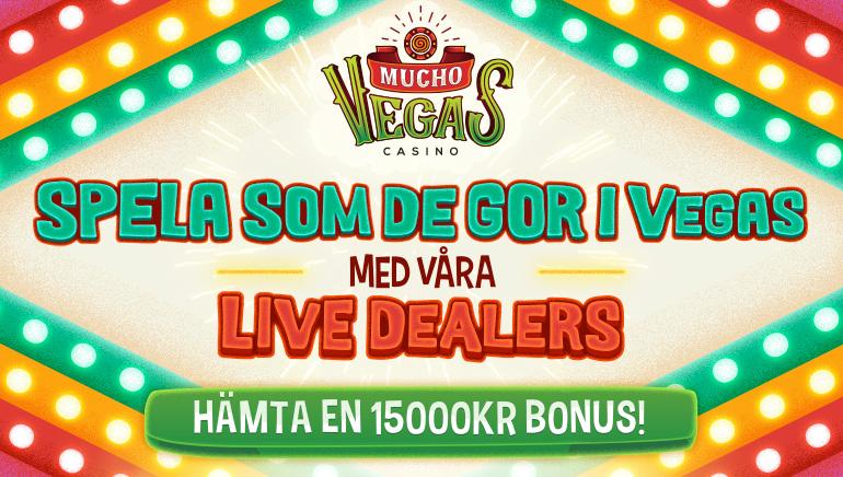 Spela Live Dealers Vegas Style hos Mucho Vegas med gigantisk multi-insättningsbonus