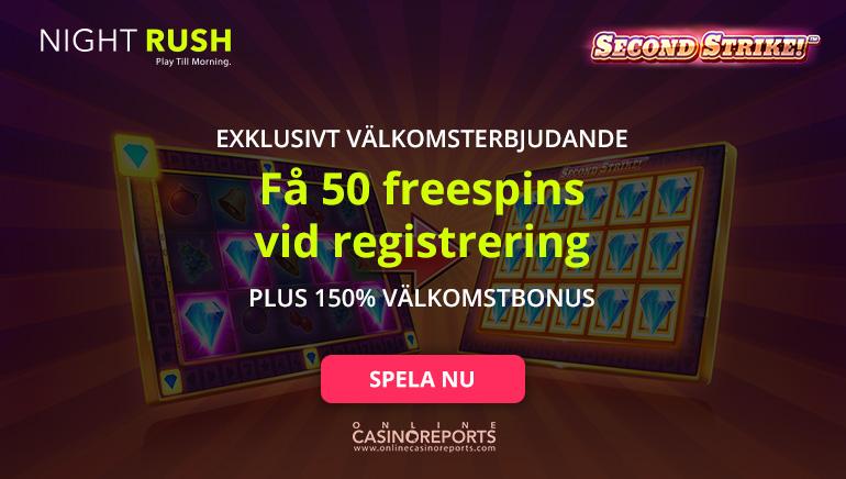 Få 50 Free Spins Utan Insättning på Nightrush Casino