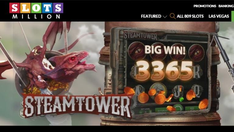 Slots Million Casino öppnar portarna med över 800 spelautomater