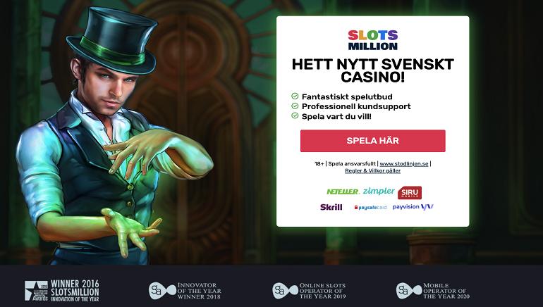 SlotsMillion casino skaffar en svensk iGaming licens