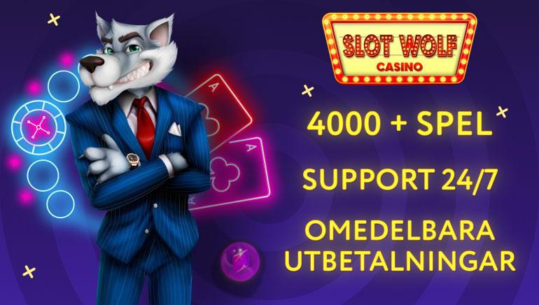Om du älskar online casinospel kolla då in SlotWolf casino!