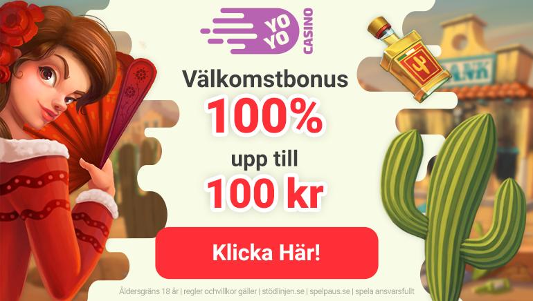 100 SEK välkomstbonus & många spel väntar på dig hos YoYo casino Sverige